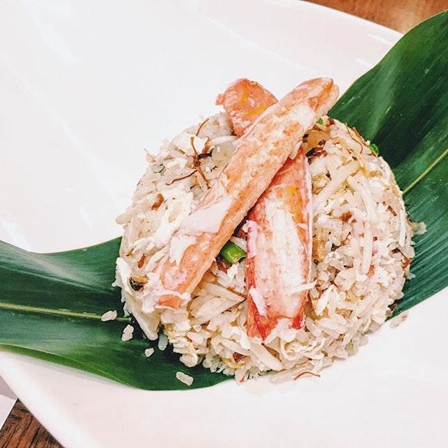 Snow Crab Fried Rice [$30].