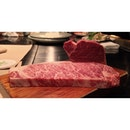 Kobe sirloin steak served rare and teppanyaki-ed to perfection!