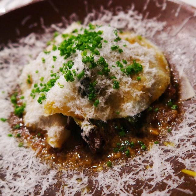 Heavenly Open-Face Beef Ravioli