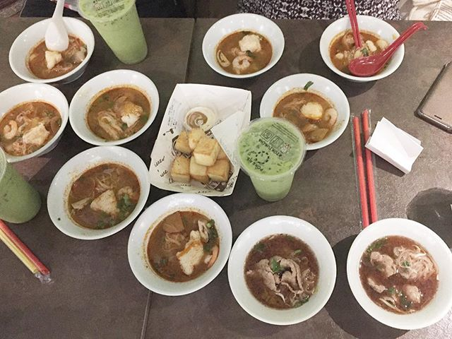 Tuk Tuk Cha crazy - can't get enough of the boat noodles and green milk tea.