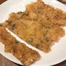 The Crispy Golden Prawn Pancake is wonderful.
