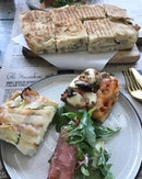 Hearty Italian cuisine and my favourite stuffed Roman Schiacciata (Truffle and Cream Cheese).