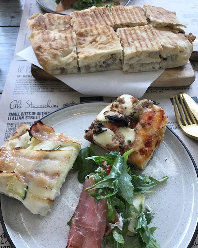 Hearty Italian cuisine and my favourite stuffed Roman Schiacciata (Truffle and Cream Cheese).
