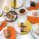 Genki Sushi for my birtday lunch back in July 🍣 = whack the mentaiko and lobster salad .