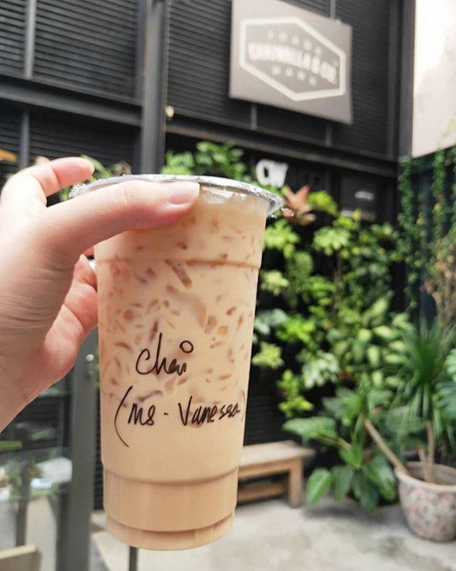 Delicious cup of iced Chai from Chaiwalla & Co.
