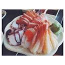Endless supply of sashimi the other day #foodporn #latergram #japfood #vsco #vscocam