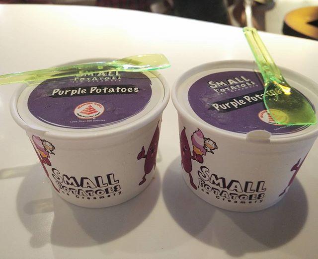 Purple sweet potato ice cream!