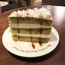 Pandan gula melaka cake from coffee bean after exercising 😛 thanks to eatigo for the $5 voucher!