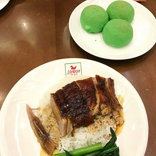We love the duck rice here.