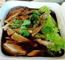 Was having mega cravings for this braised duck with yam rice and silky white porridge!