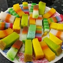 A plate of rainbow kuehs from borobudur snack shop!
