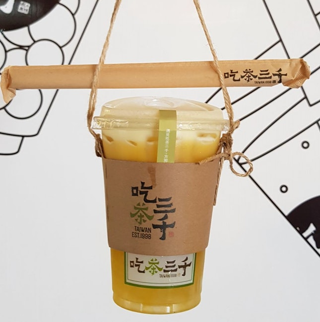 Osmanthus Oolong With Mango And Konjac Jelly ($5.2)