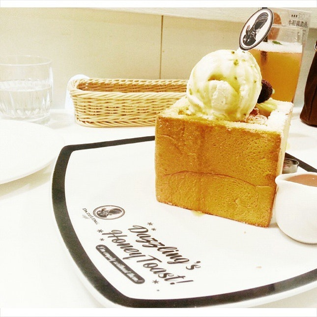 Mad love for this honey toast.