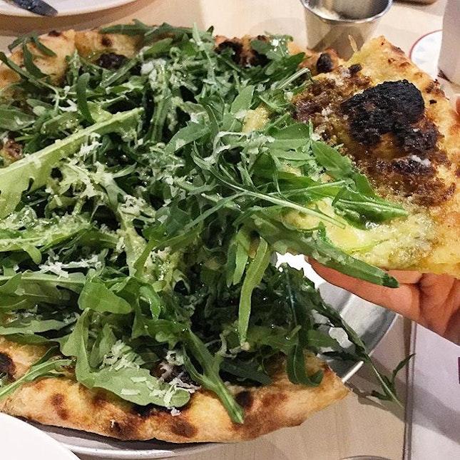 {PISTACHIO PESTO} because tomato-based pizzas are too mainstream.