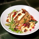Grilled Haloumi Cheese with quinoa —$22 My type of eating clean if this counts as one.