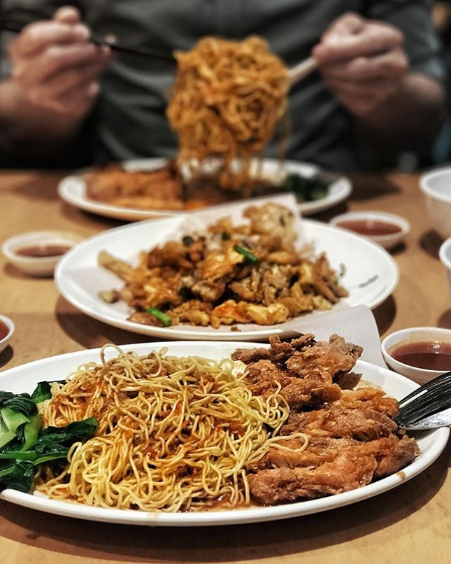 Chicken Cutlet Noodles—$5.90 Well marinated chicken cutlet fried to crisp and the al dente noodles with that chilli.
