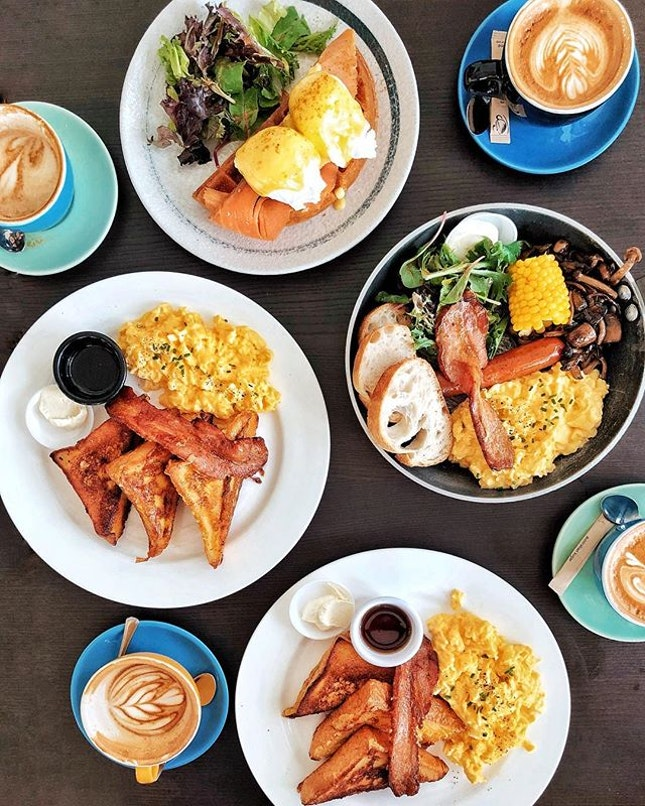French Toast with bacons & eggs —$16.90 Hearty brunch is always a good motivation!