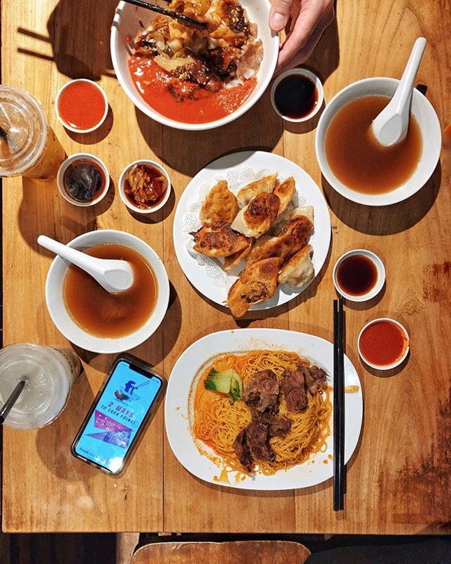 Beef Brisket Noodles—$6.80 @foodrepublicsg has rolled out a new FoodRepublic Rewards App which allows you to: 1) Scan the QR code and pay without the hassle to reaching out your wallet.