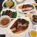 Roasted goose, roasted and BBQ pork, waxed sausages, century eggs and noodles anyone?