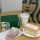 Mermaid cake, lychee vanilla cake and raspberry frap.