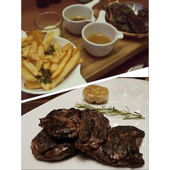 250g Blackmore Wagyu Skirt Steak x Garlic Fries x Sautéed Mushrooms.