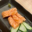 Salmon Sashimi ($8)