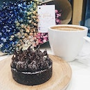 Feast your eyes on pretty blooms, nose on aromatic coffee and taste buds on an earl grey chocolate tart, what's there left to regret in life?
