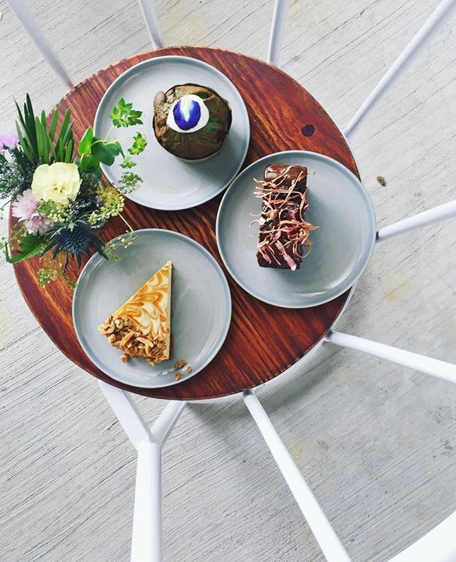 Waking up to gorgeous bakes by Chef Jasmine at Wildseed Cafe @thesummerhousesg!