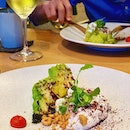 Dreaming of the grilled Romanesco cauliflower, burrata foam with toasted hazelnuts over @braci.sg.