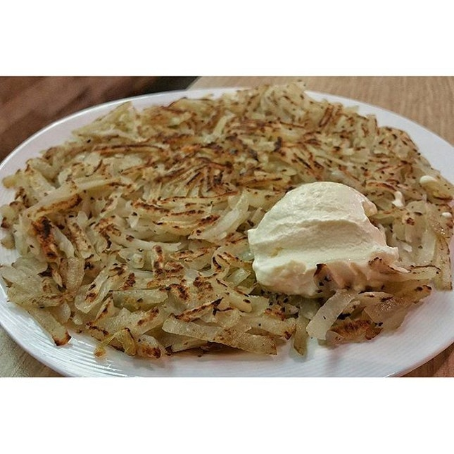 Rosti with Sour cream from Icon Village