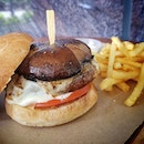 Throwback to my delicious juicy prime beef burger with Portobello mushroom cheese.