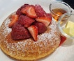 The Breakfast Strawberry Maple Pancake ($16) from @columbuscoffeeco.