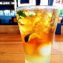 Lychee Lime Mint Tea.