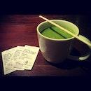 Green tea latte after Godzilla..