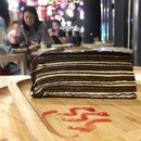 Yummy chocolate millecrepe cake to complete the pampering experience 😬 #poomsandpoms #oopspomsisinthelocker #foodies #sgfood #sgfoodies #sgeats #sgfoodporn #singaporefood #sgfoodtrend #eatmoresg #eatoutsg #foodinsing #yummyinmytummy #fatdieme #sgdessert #dessert #dessertporn #chocolateaddict #sgcafe #sgcafefood #stfoodtrending #8dayseat #burpple #millecrepe #spaday #yunomorionsen #kallangwavemall #stadiummrt