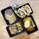Yummy okonomiyaki-style omelette, poached egg toast, and a regular ol' club sandwich!