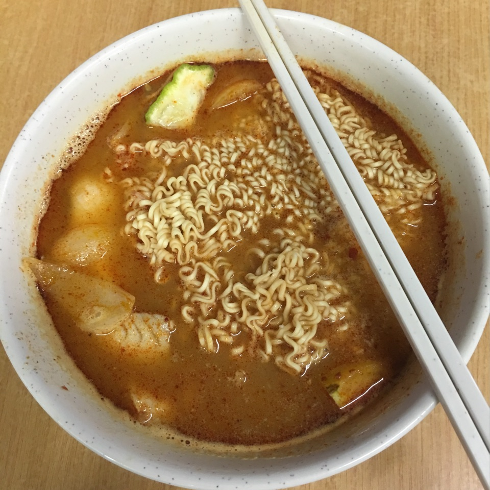 Tomyum Fish With Instant Noodle