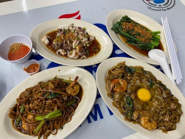 Horfun And Ee Mee And Octopus + Veggies