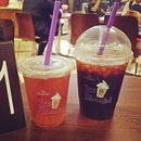 Teh o and kopi o peng at coffeebean #drinks #beverages #umakemehungry