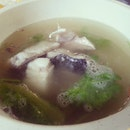 Fish head soup $5.