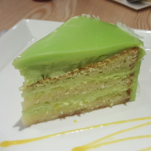 Pandan Fudge Cake
