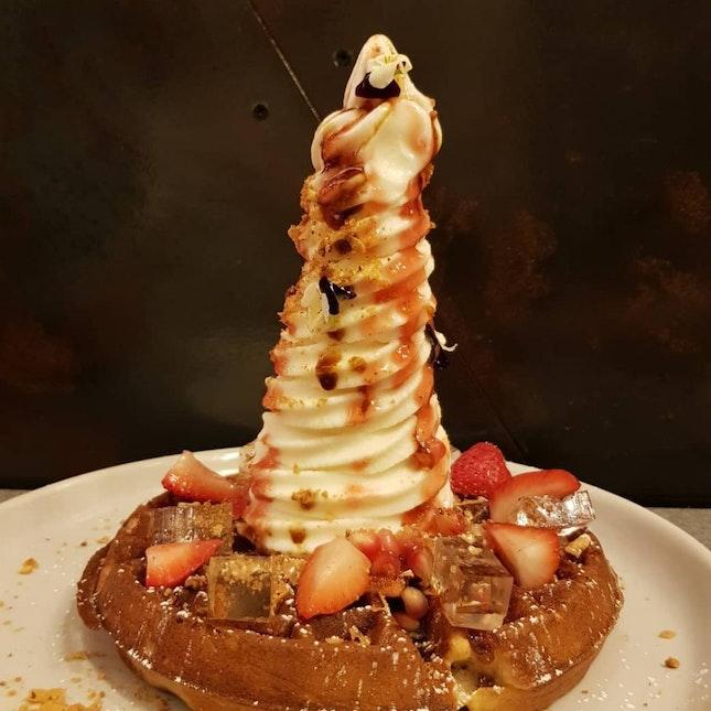 Buttermilk Waffle With Strawberry And Elderflower