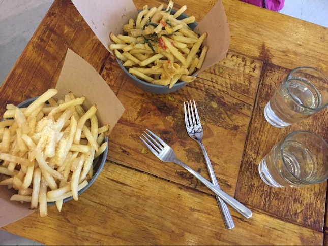 Salted Egg + Truffle Fries ✨