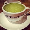 Green tea latte 🍵 #green #tea #latte