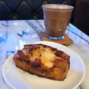 Cinnamon Scone ($5) And Dark Mocha ($7)