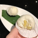 This #durian #mochi really won my heart over after my #dinner at #BlackSocietysg.