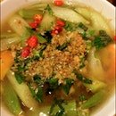 Vietnamese Sour & Spicy Soup with Prawns
