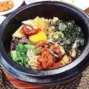 Dolsot Bibimbap- in hot stone pot!