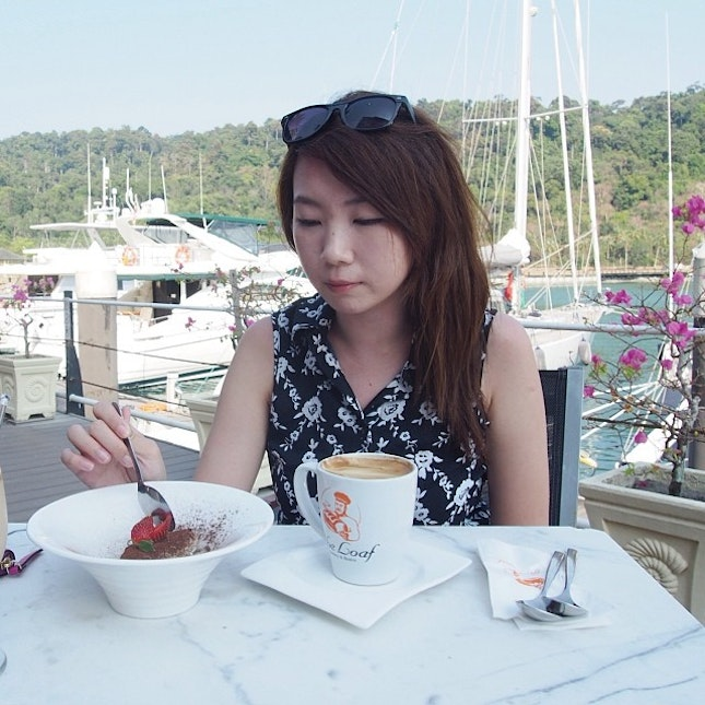 Coffee break by the harbor this afternoon..