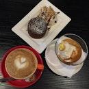 coffee + coffee affogato + choc lava cake
